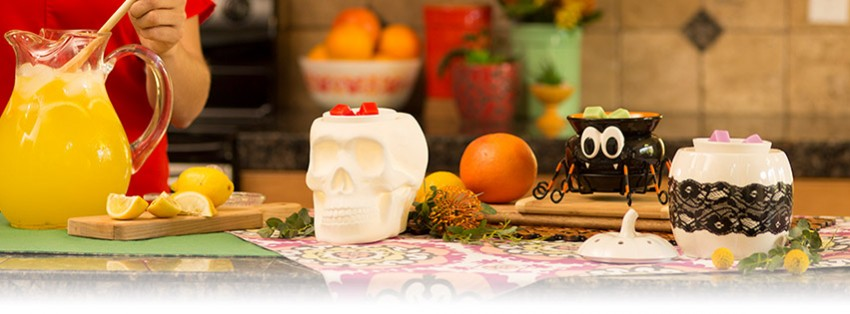 scentsy halloween scull