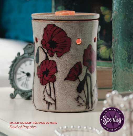 Scentsy field of poppies