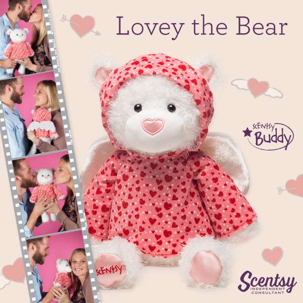 Scentsy Lovey Bear for Valentines